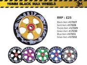 GRIT ALLOY CORE BLACK MAX 110mm  SPOKE WHEEL W/ABEC 9 BEARINGS