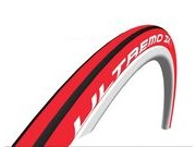 SCHWALBE Ultremo ZX Evolution HD Folding Road Tyre  Red/Black  click to zoom image