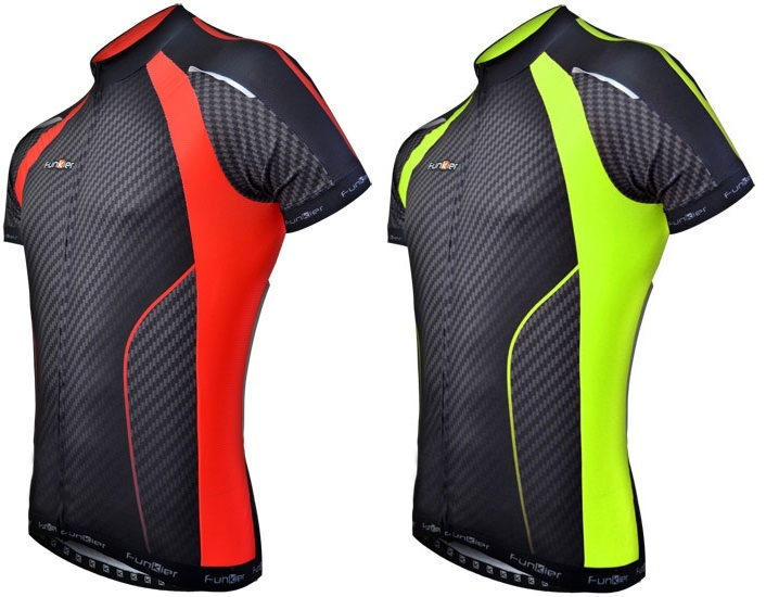 Funkier J-763 Gents Elite S S Jersey in Carbon Red Trim 2014 ... 02e97a136