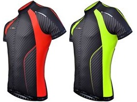 Funkier J-763 Gents Elite S/S Jersey in Carbon/Red Trim