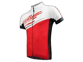 Funkier J-760 Gents Short Sleeve Jersey in White/Red