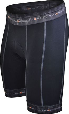 Funkier Gents 14 Panel Gel Shorts in Black S-255-D8 click to zoom image