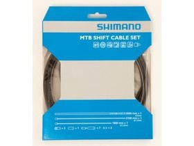 Shimano MTB XTR gear cable set with SIL-TEC coated inner wire, black