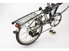 Brompton R Silver Rear Rack & Mudguard Set
