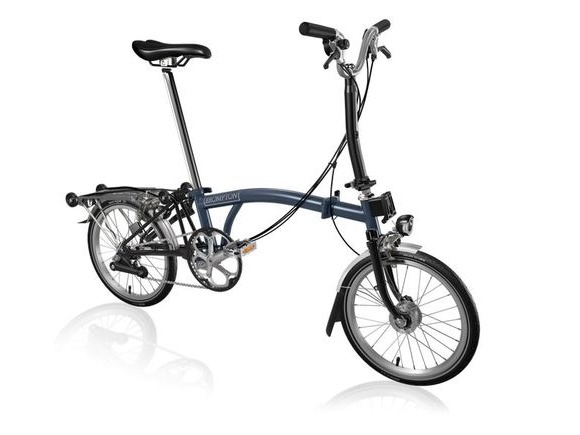 Brompton M6R Tempest Blue/Black with Shimano Dynamo click to zoom image