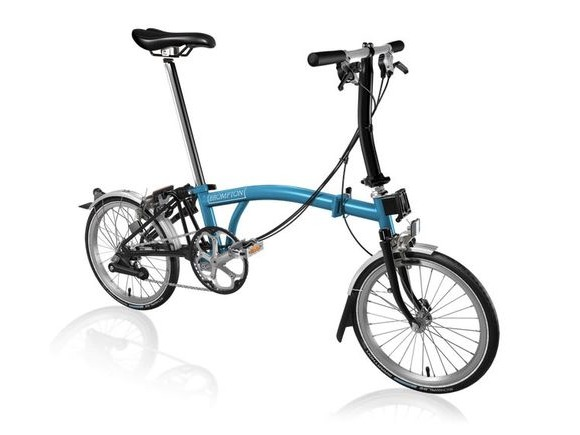 Brompton S6L Lagoon Blue/Black click to zoom image