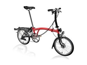 Brompton S6R Red/Black with Shimano Dynamo