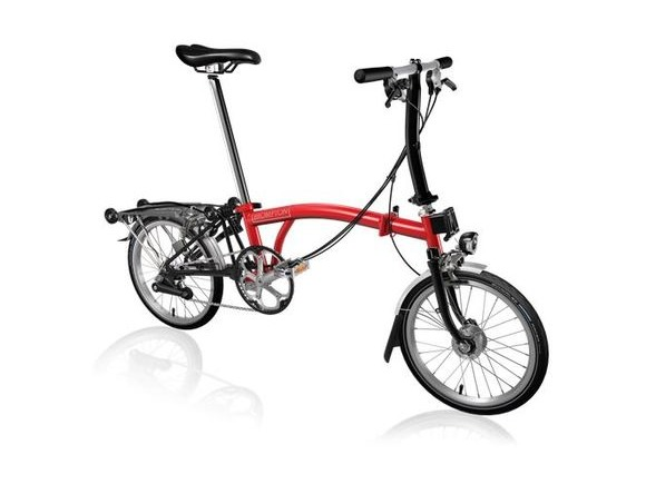 Brompton S6R Red/Black with Shimano Dynamo click to zoom image