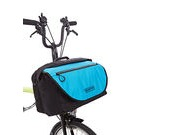 Brompton S Bag + Frame Black/Lagoon Blue Flap click to zoom image